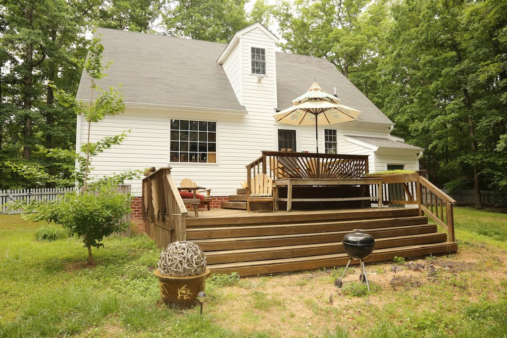View of the back of the house with 2 tier deck.