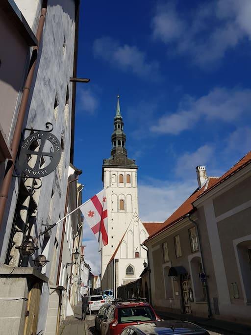 Niguliste church is in 40-50 meters   fare