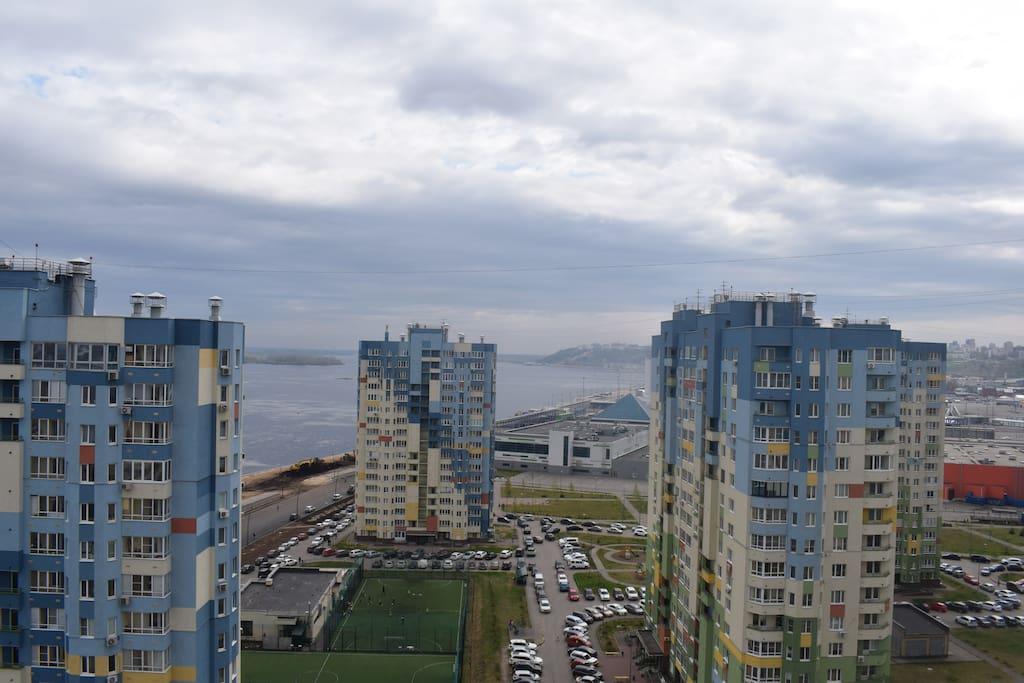 Вид из окна на р. Волга