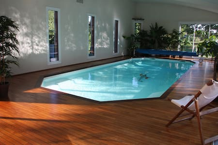 Seaside en-suite room indoor pool - Étables-sur-Mer - 住宿加早餐
