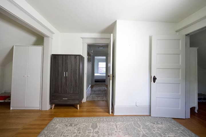 Office space, twin bedroom armoire