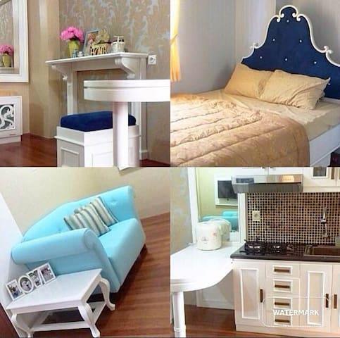 Shabby Chic Furnish Kalibata City Apt - Pancoran - Apartment