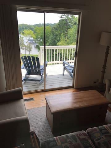 Livingroom looking out on deck