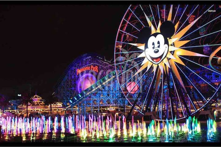 Only 6 minutes drive from Disneyland