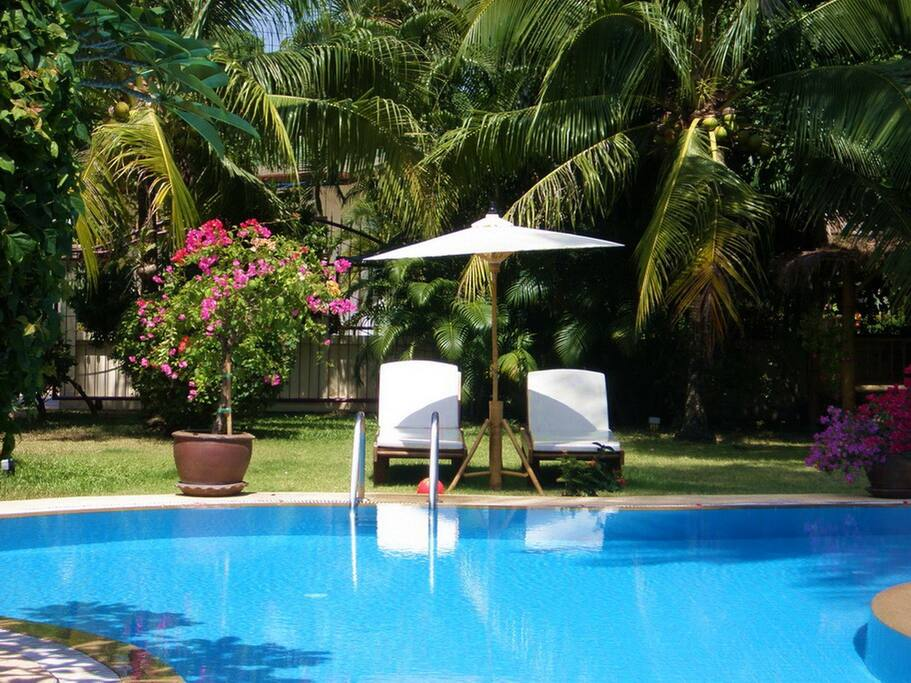 TOP UP YOUR TAN BY THE BEAUTIFUL POOL
