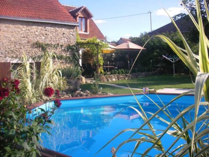 Chambre d'hôtes 2 personnes avec piscine