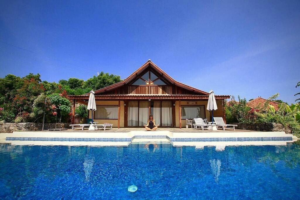 Pool view, terrace