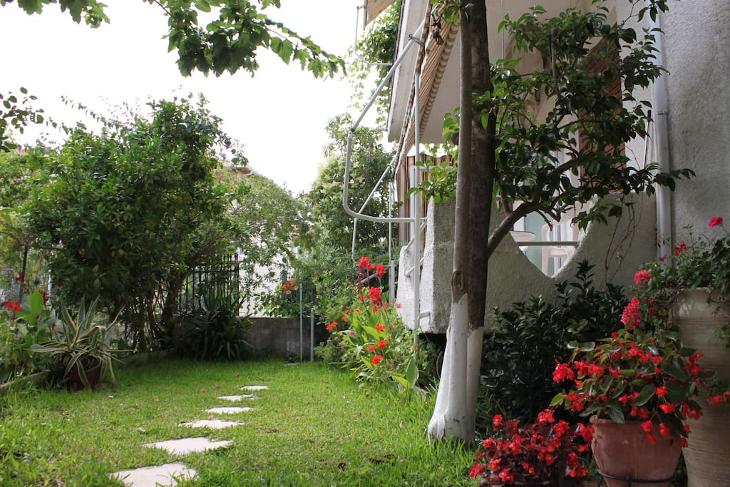 The apartment from the garden