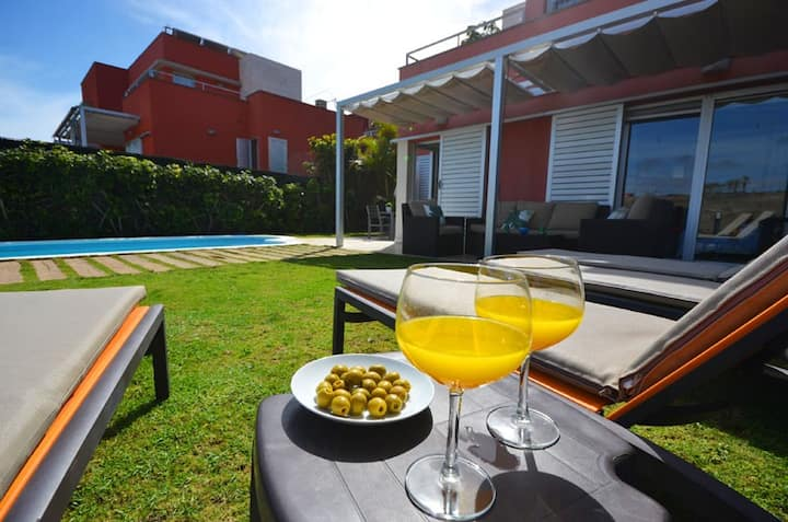 A place to relax in the sun of the Canary Islands