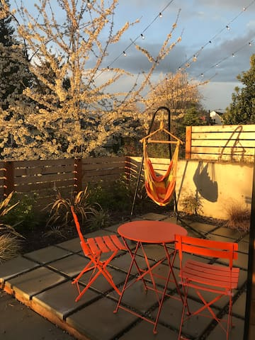 Front patio gets great light in the evenings.