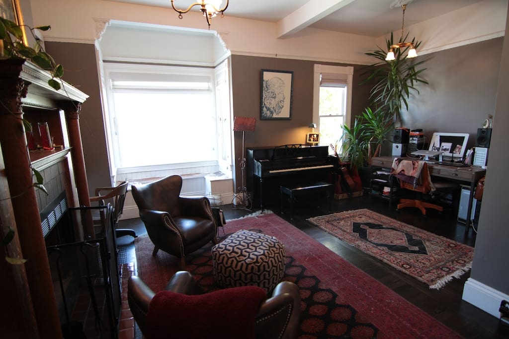 the parlor from the second bedroom / TV room