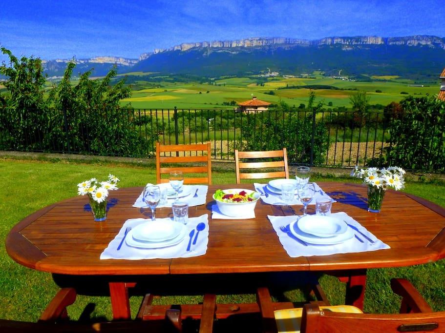 Casa rural Belástegui con unas vistas panorámicas impresionantes