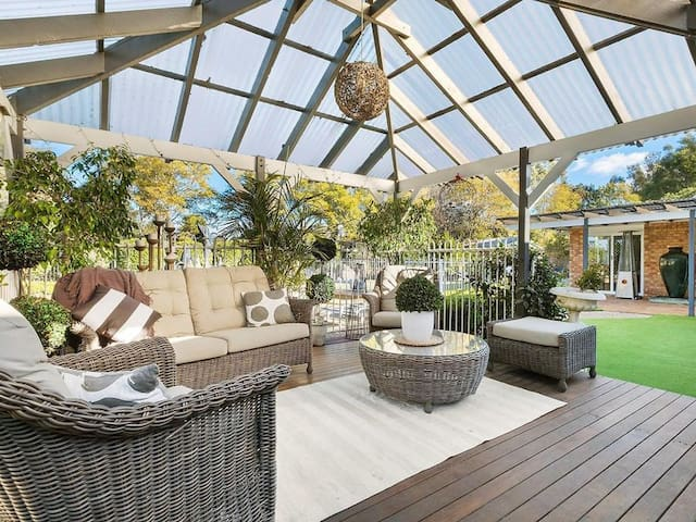 Open expansive outdoor living area