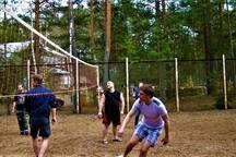 спорт площадки в турбазе