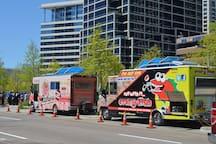 Near Klyde Warren Park with tons of Food trucks