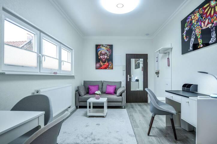Stylisch,2 Zi. Wohn,16m² sonnige Terrasse,4 Gäste