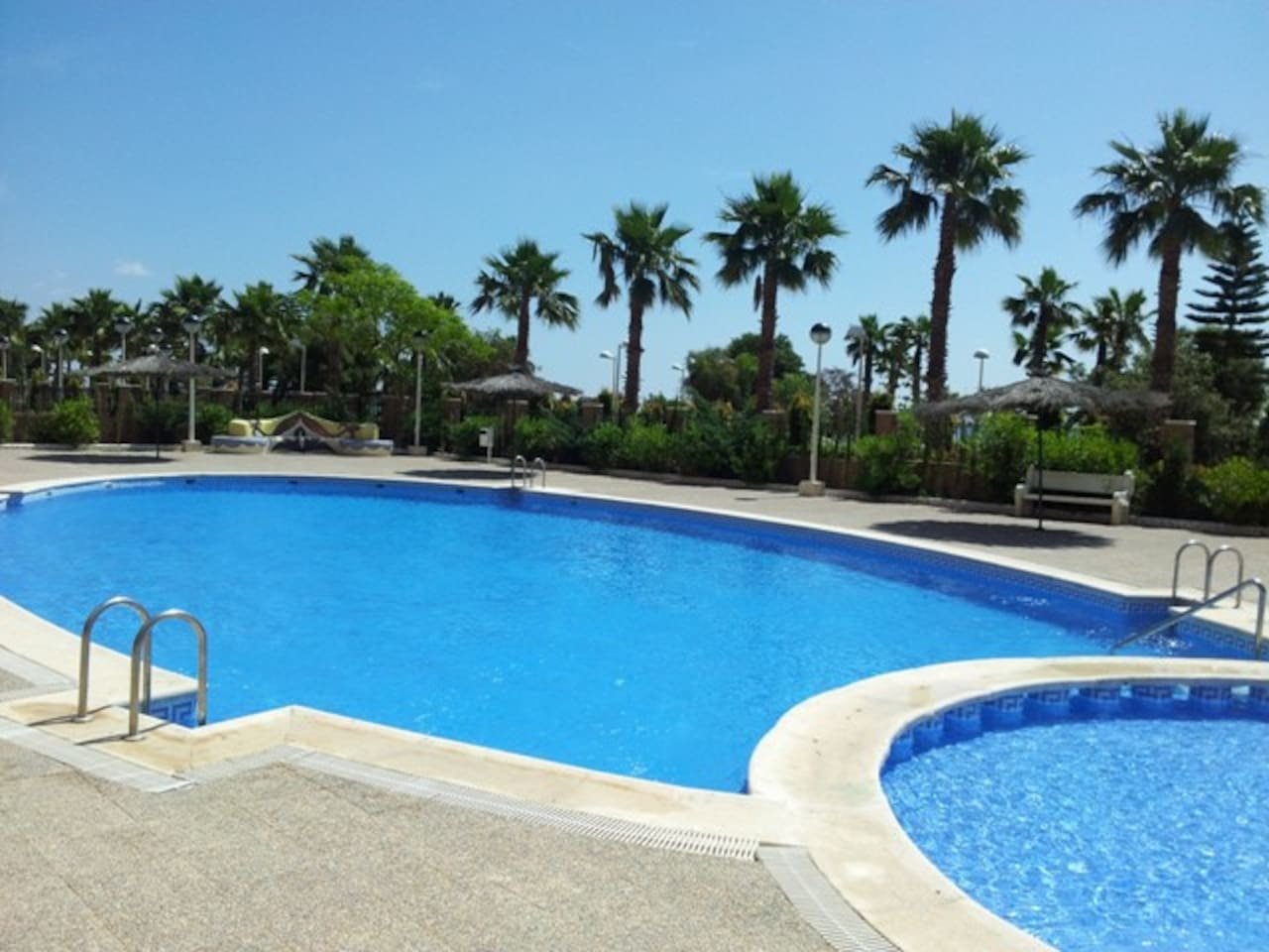 Adult & Child pool, with direct beach access  just 50 meters away!