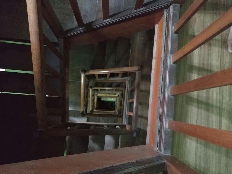 Wooden newari style stairways