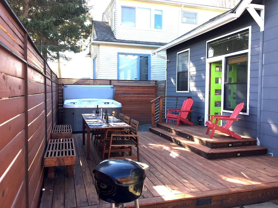 Your back yard patio and gas grill await
