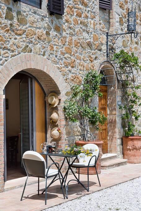Entrance and outside