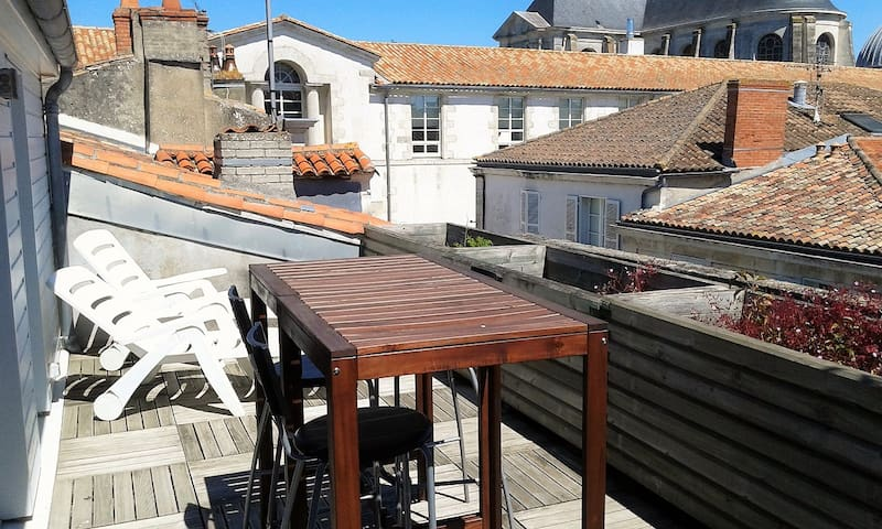 Appartement centre ville terrasse - La Rochelle - Apartment