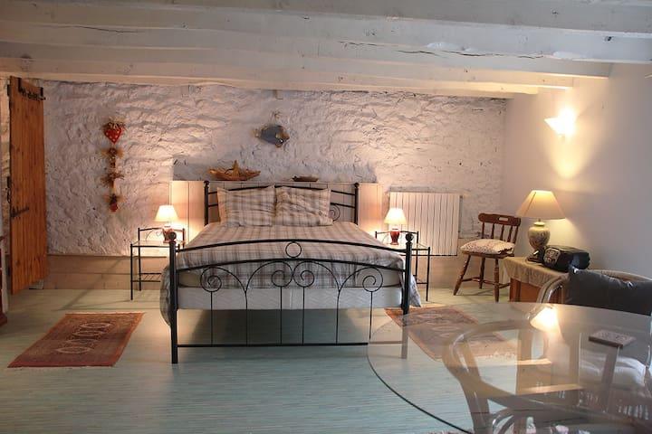 Très grande chambre d'amis avec salle de bain - Combourg - ที่พักพร้อมอาหารเช้า