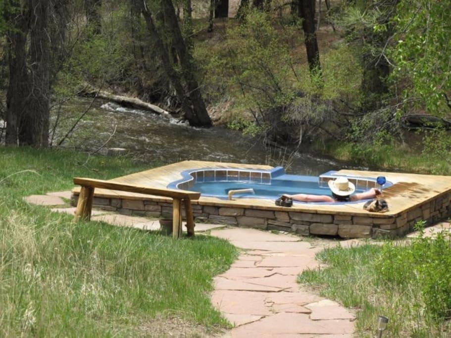 Creek side hot springs cabin cabins for rent in nathrop for Cabine colorado vrbo