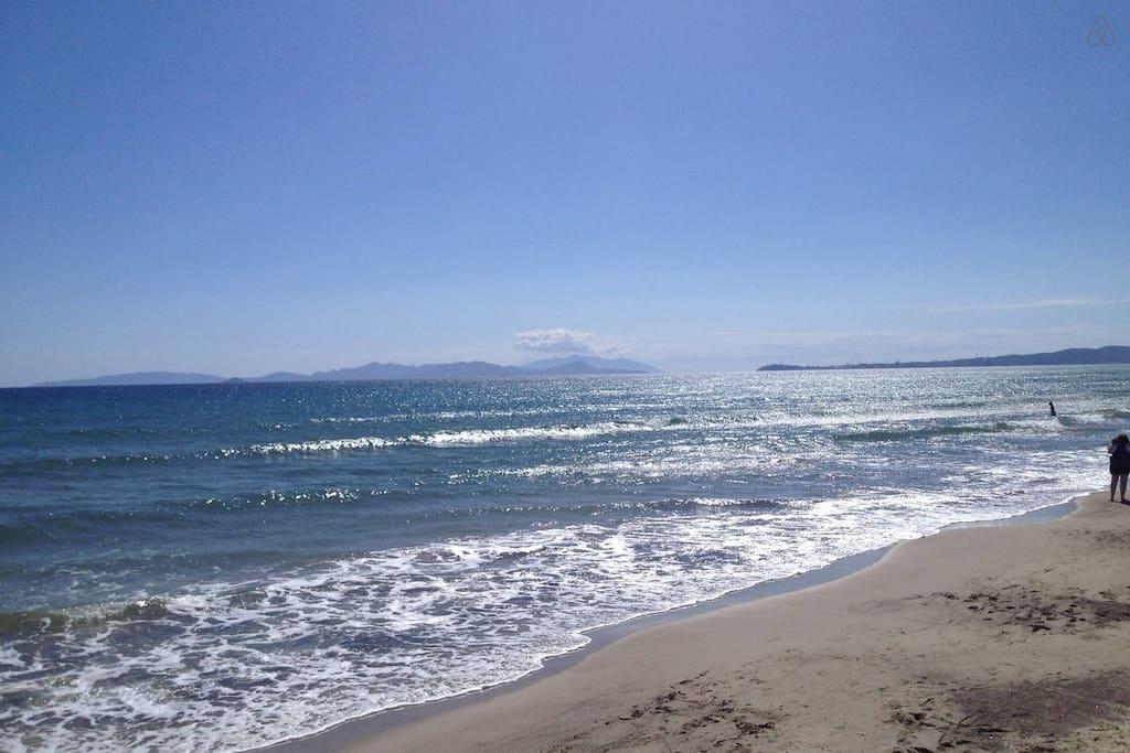 Le spiagge a pochi metri