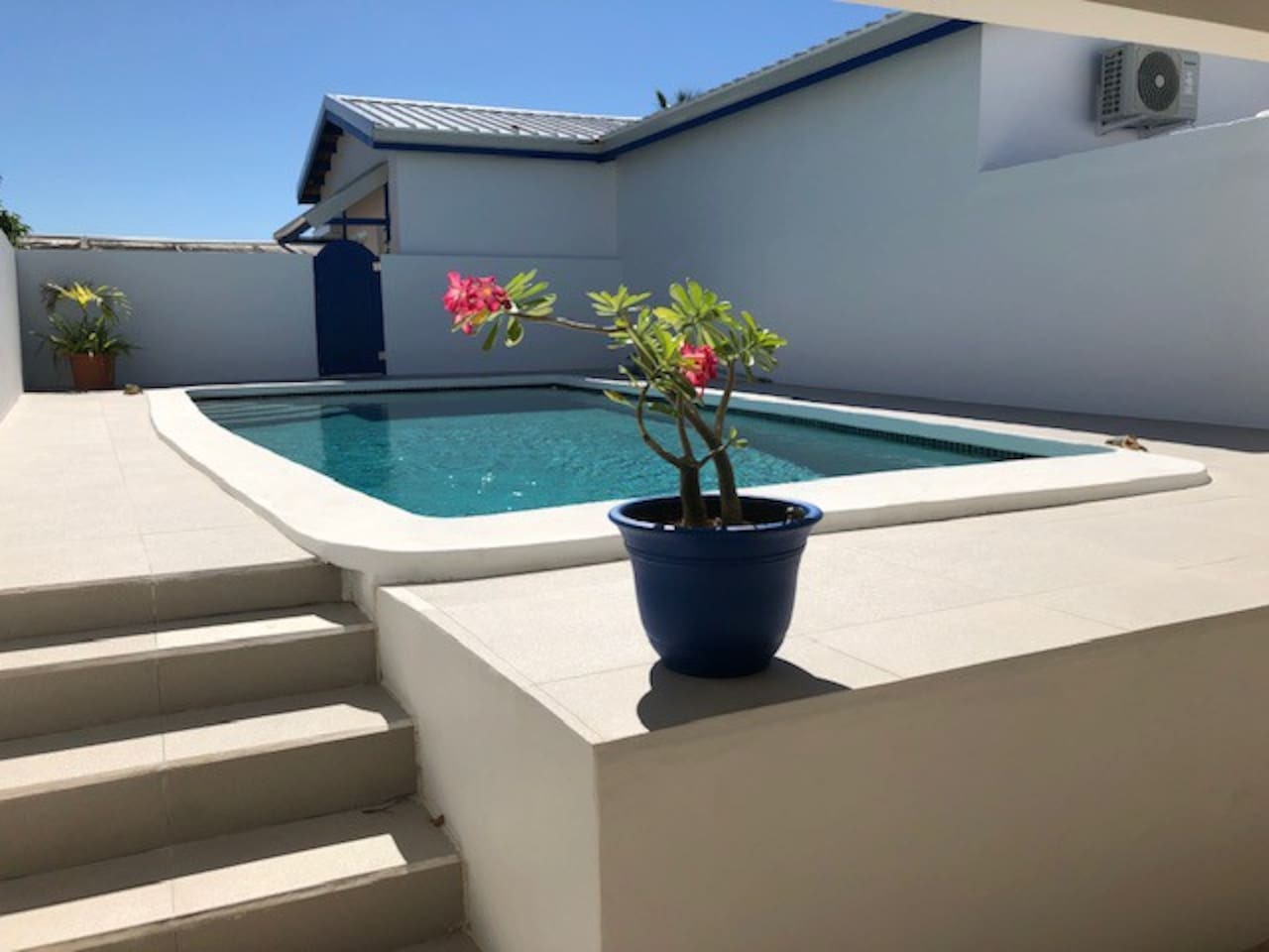 Private pool to enjoy with loungers and floats