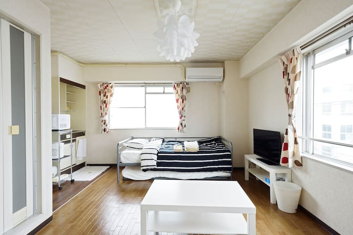 11min to train Kobe,Sannomiya,Himeji!Wi-Fi!Private - Akashi-shi - Apartment