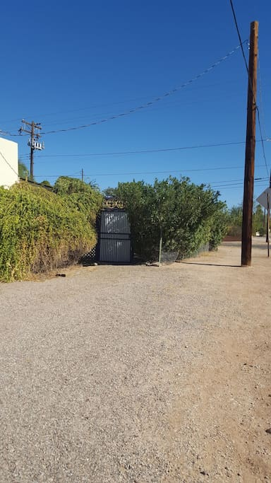 Private entry gate on Fairmount west of Santa Rosa
