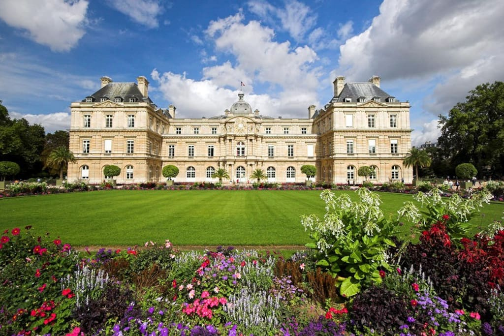 10 min walk from the wonderful Luxembourg Gardens (and French Senate)