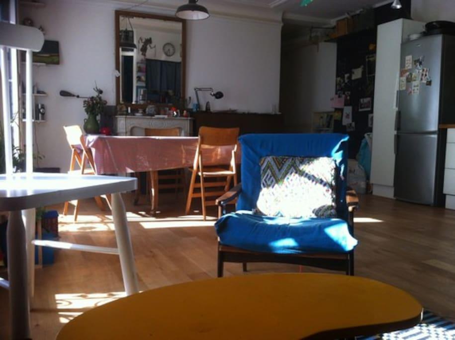 Grand séjour salon