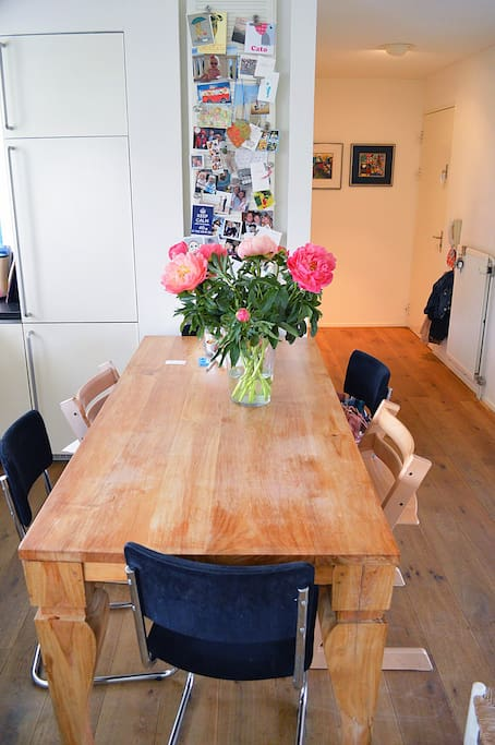 A large family table to enjoy together from a home made meal