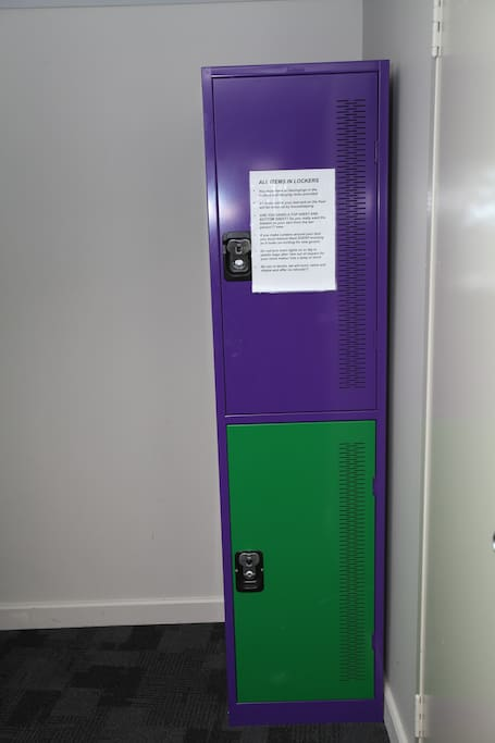 Lockers available in the room