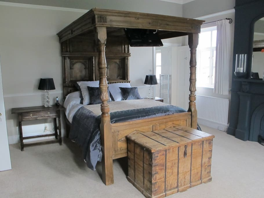 Our Four Poster bedroom