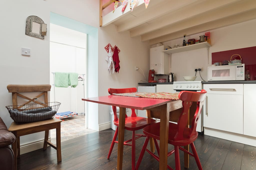 Large kitchen table for working and eating
