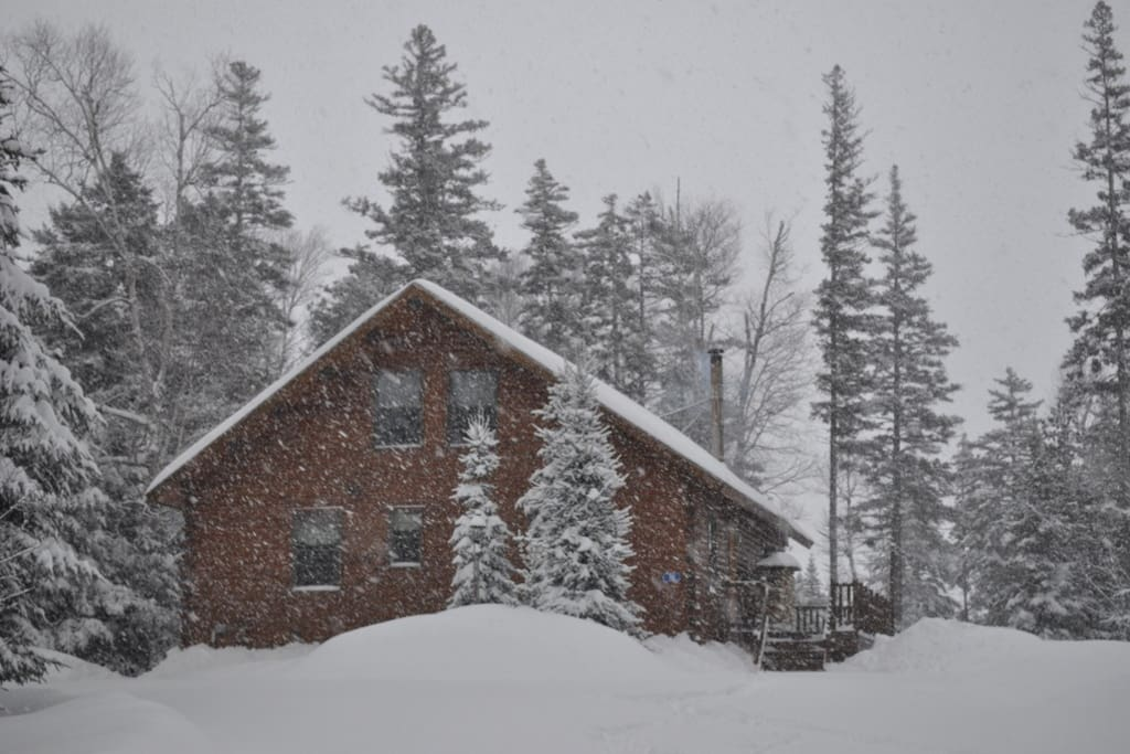 Getting snowed in at the cabin