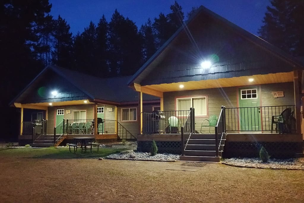 Evenings at Lazy Bear Lodging.