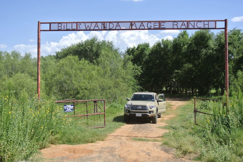Entrance gate to property