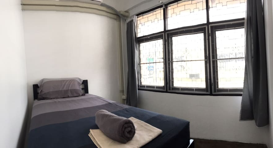 Here's your private bedroom with a window, wifi - Bangkok