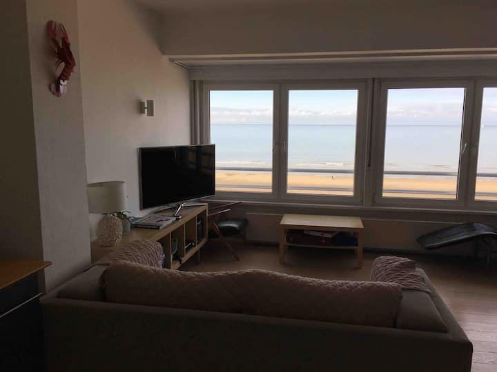 Appartement sur la digue de Sint Idesbald vue mer