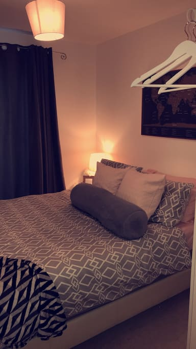 Guest bedroom - includes double bed and plenty of pillows!