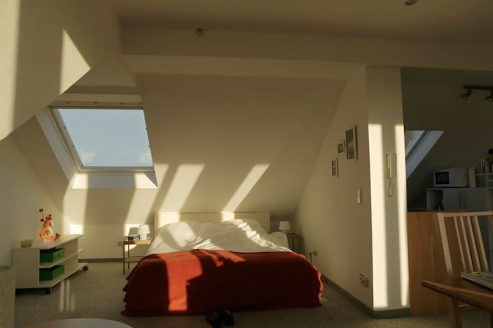 Very bright and cosy appartment in the attic...... - Münster - Leilighet