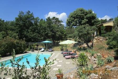 CALME ABSOLU PISCINE VUE CAMPAGNE - Lorgues - Bed & Breakfast