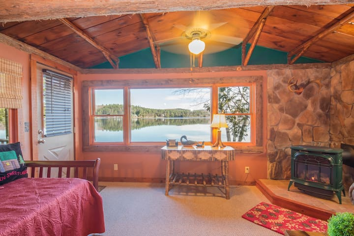 All Season Loon Cabin on Lake Colby,  Saranac Lake