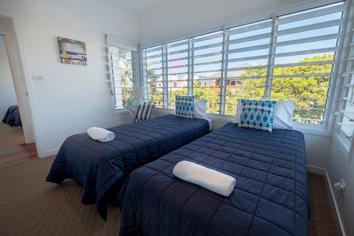 Upstairs Bedroom 1 2 x King Single Beds