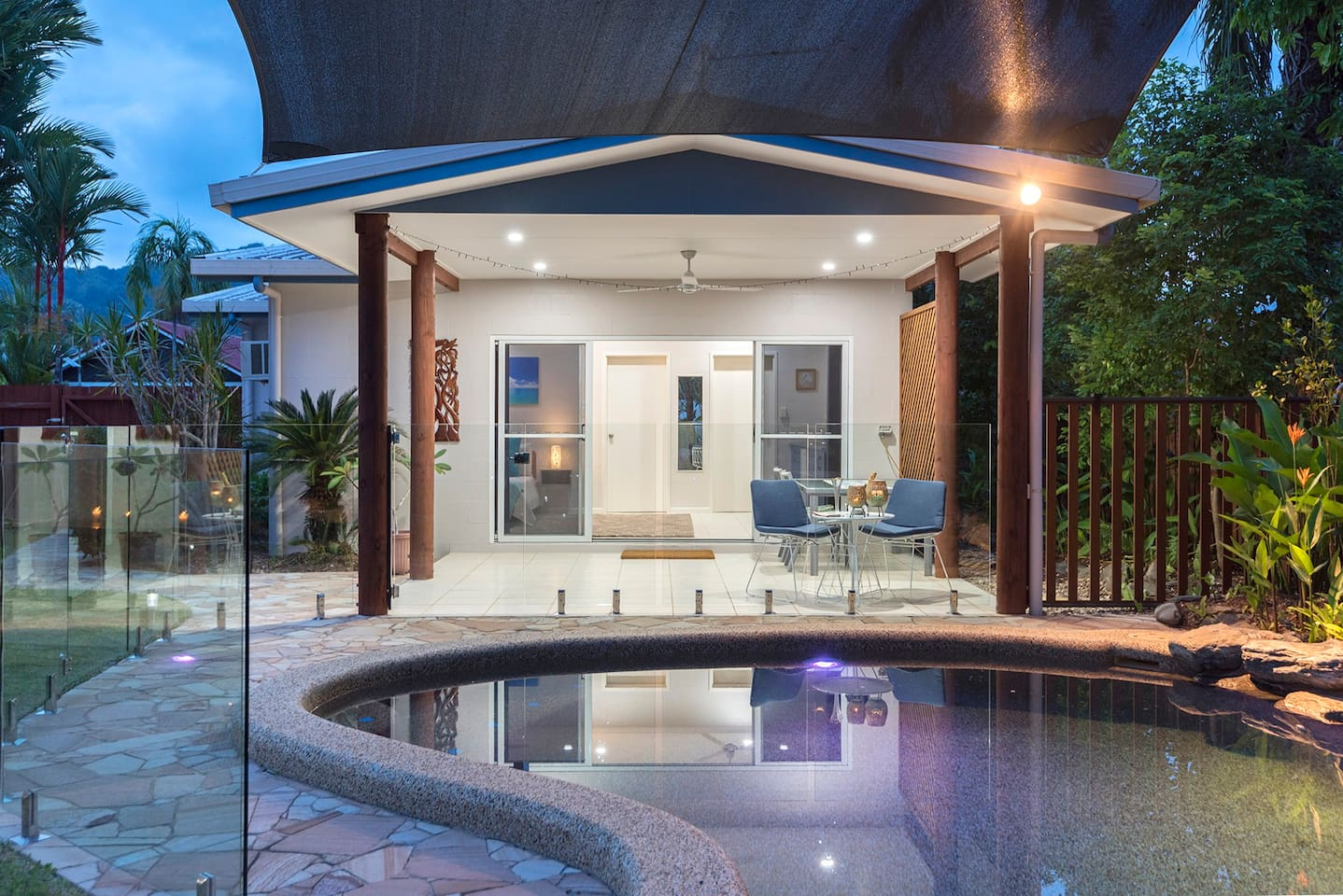 A generous private patio with lounges & seating for meals joins your accommodation to the pool.