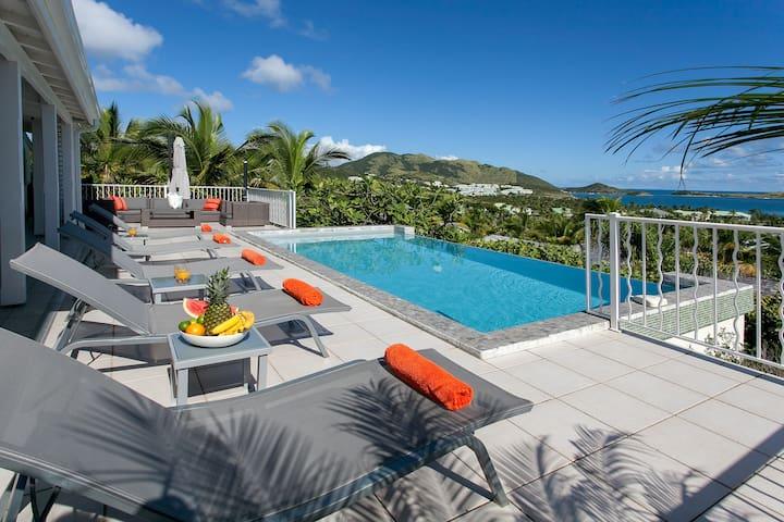 Pool deck and sea views