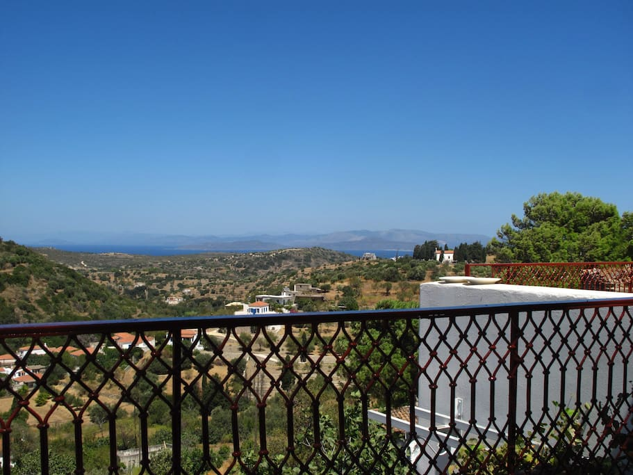 beautiful view of sea, Peloponese, Landscape from the terrasse